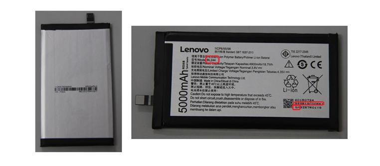 5000mAh 3.8V Lenovo BL244 Lithium Ion Replacement Mobile Cell Phone Battery for Lenovo VIBE P1 Smartphone